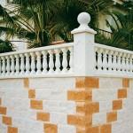 Balaustre Parma con pasamano-zócalo Esparta, pilar Mónaco y remate Turia