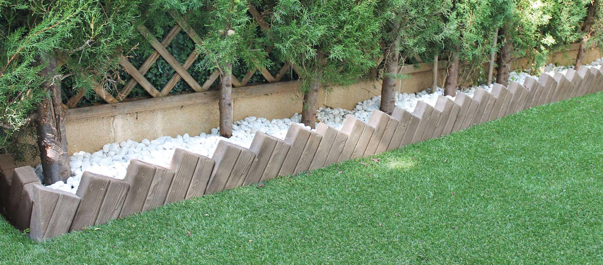 Bordillos para jardines bordillo de piedra blanco albares for Bordillos para jardin