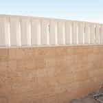 Paravientos Tarifa con separador Lances Frontal, cubremuros Nilo y pasamanos Faro en colocación alterna