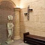 Revestimiento Salamanca con columna Aros y medio capitel Alberca