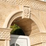 Aplacado Salamanca con moldura curva Salamanca, moldura Mayor y clave Flor de Lys