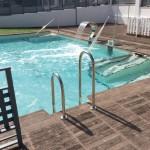 Remate de piscina Canadá y baldosa Azores oregón