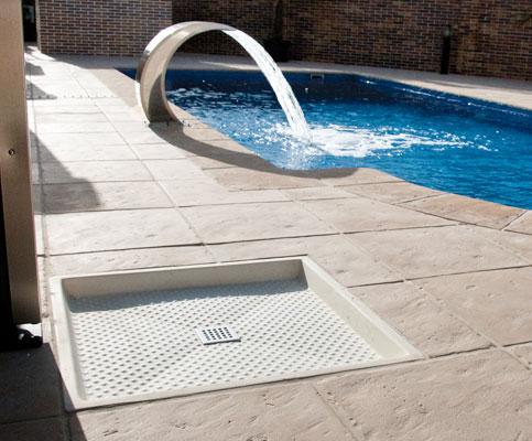 Plato ducha exterior piscina