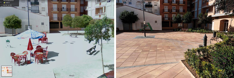 Plaza Utiel antes - después