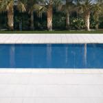 Remate de piscina Moraira con Plaqueta Ranurada
